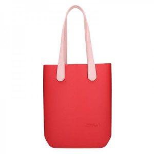 Dámská trendy kabelka Ju'sto J-High – červeno-růžová