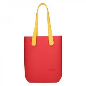 Dámská trendy kabelka Ju'sto J-High – červeno-žlutá