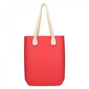 Dámská trendy kabelka Ju'sto J-High – červeno-krémová