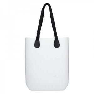 Dámská trendy kabelka Ju'sto J-High Nil – bílo-černá