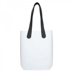 Dámská trendy kabelka Ju'sto J-High – bílo-černá