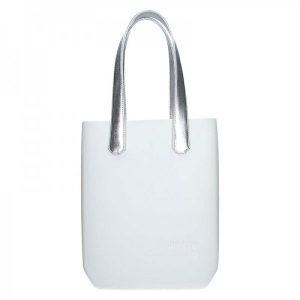Dámská trendy kabelka Ju'sto J-High – bílo-stříbrná