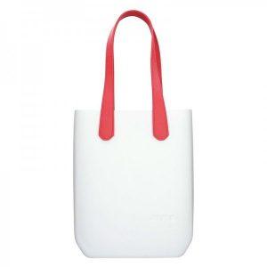 Dámská trendy kabelka Ju'sto J-High – bílo-červená