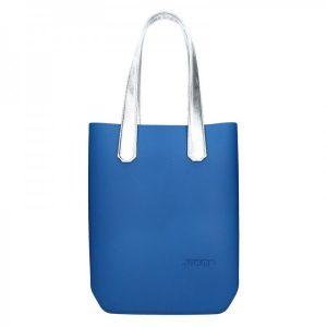 Dámská trendy kabelka Ju'sto J-High – modro-stříbrná
