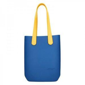 Dámská trendy kabelka Ju'sto J-High – modro-žlutá
