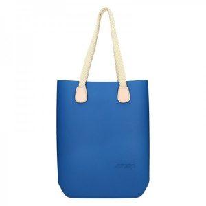 Dámská trendy kabelka Ju'sto J-High Nil – modro-krémová