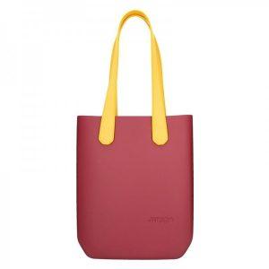 Dámská trendy kabelka Ju'sto J-High – vínovo-žlutá