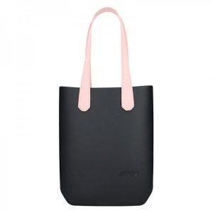 Dámská trendy kabelka Ju'sto J-High – černo-růžová