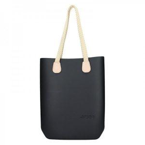 Dámská trendy kabelka Ju'sto J-High Nil – černo-krémová
