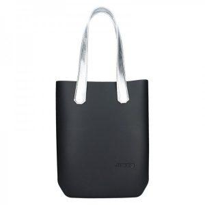 Dámská trendy kabelka Ju'sto J-High – černo-stříbrná
