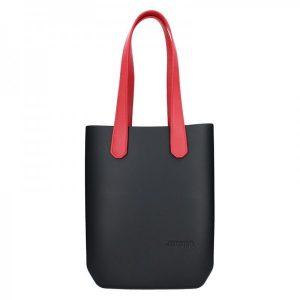 Dámská trendy kabelka Ju'sto J-High – černo-červená