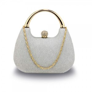 Dámské psaníčko LS Fashion Kirsten – stříbrná