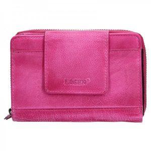 Dámská kožená peněženka Lagen Agáta – růžová
