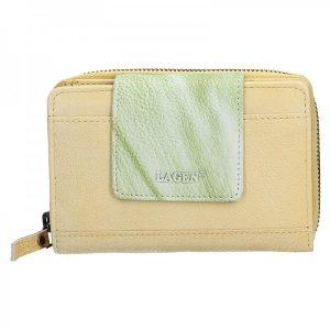 Dámská kožená peněženka Lagen Agáta – žluto-zelená