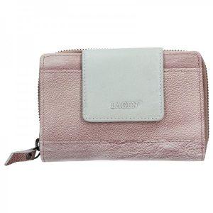 Dámská kožená peněženka Lagen Agáta – fialovo-stříbrná