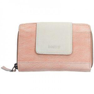 Dámská kožená peněženka Lagen Agáta – oranžovo-béžová