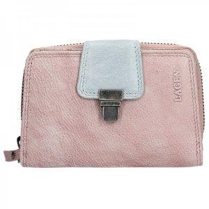 Dámská kožená peněženka Lagen Lea – fialovo-stříbrná