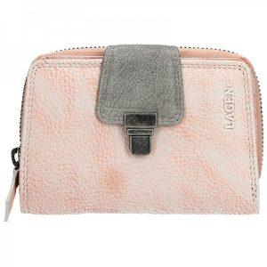 Dámská kožená peněženka Lagen Lea – světle růžová