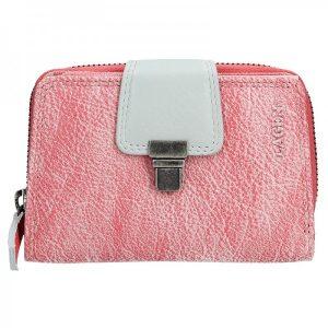 Dámská kožená peněženka Lagen Lea – růžová