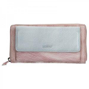 Dámská kožená peněženka Lagen Maria – fialovo-stříbrná