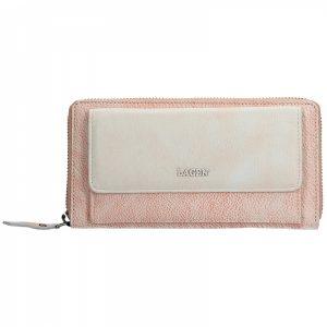 Dámská kožená peněženka Lagen Maria – růžovo-béžová