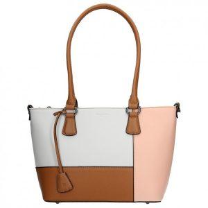 Dámská kabelka Hexagona 505242 – bílo-řůžová