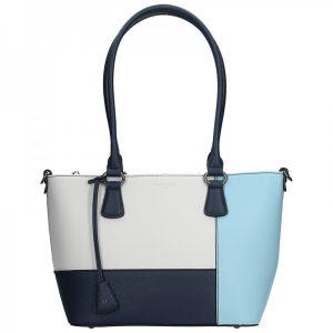Dámská kabelka Hexagona 505242 – modro-bílá