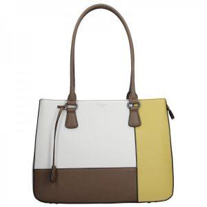Dámská kabelka Hexagona 505239 – bílo-žlutá