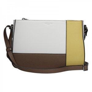 Dámská kabelka Hexagona 505238 – bílo-žlutá