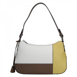 Dámská kabelka Hexagona 505236 – bílo-žlutá