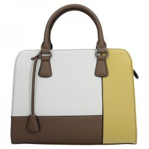Dámská kabelka Hexagona 505235 – bílo-žlutá