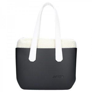 Dámská trendy kabelka Ju'sto J-Wide Andrea – černo-bílá
