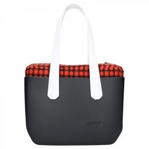 Dámská trendy kabelka Ju'sto J-Wide Lucy – černo-bílá
