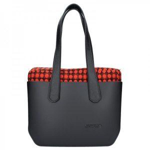 Dámská trendy kabelka Ju'sto J-Wide Lucy – černo-červená
