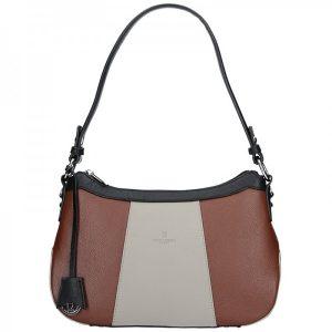 Dámská kožená kabelka Hexagona 465515 – hnědá