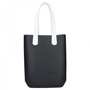 Dámská trendy kabelka Ju'sto J-High – černo-bílá