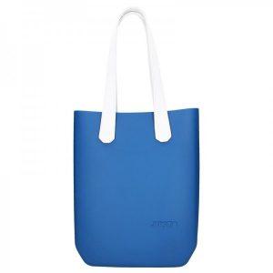 Dámská trendy kabelka Ju'sto J-High – modro-bílá