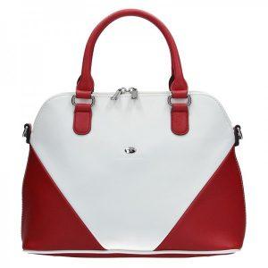 Dámská kabelka Hexagona 643727 – červeno-bílá