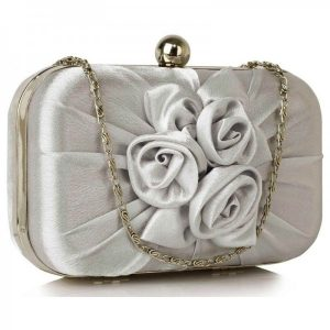 Dámské psaníčko LS Fashion Rousie – stříbrná