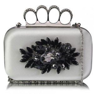 Dámské psaníčko LS Fashion Crystal – stříbrná