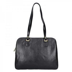 Luxusní kožená dámská kabelka Hexagona 113292 – černá
