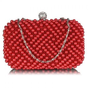 Dámské perličkové psaníčko LS Fashion Claire – červená