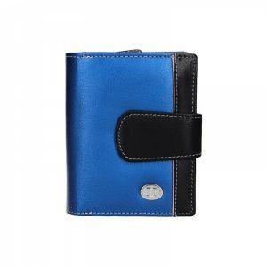 Dámská kožená peněženka DD Anekta Hana – modro-černá
