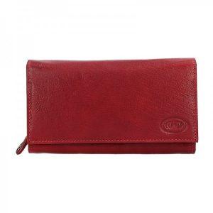 Dámská kožená peněženka DD Anekta Eliška – vínová