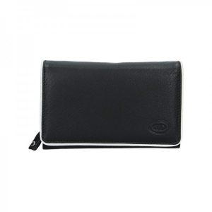 Dámská kožená peněženka DD Anekta Dita – černo-bílá