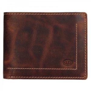 Pánská kožená peněženka DD Anekta Josef – hnědá