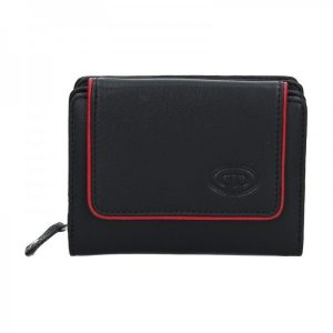 Dámská kožená peněženka DD Anekta Markéta- černo-červená