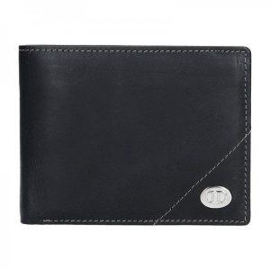 Pánská kožená peněženka DD Anekta Jonáš – černá