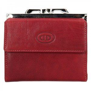 Dámská kožená peněženka DD Anekta Linda – červená