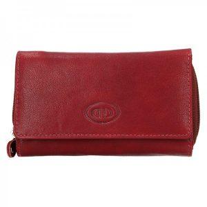 Dámská kožená peněženka DD Anekta Marta – červená